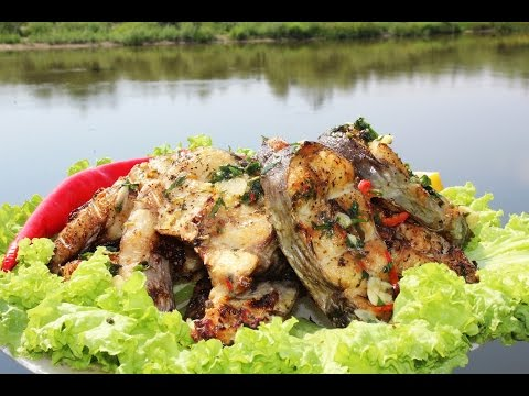 Сом на мангале. Рыба на барбекю. Fish barbecue. Готовит Никита Сергеевич