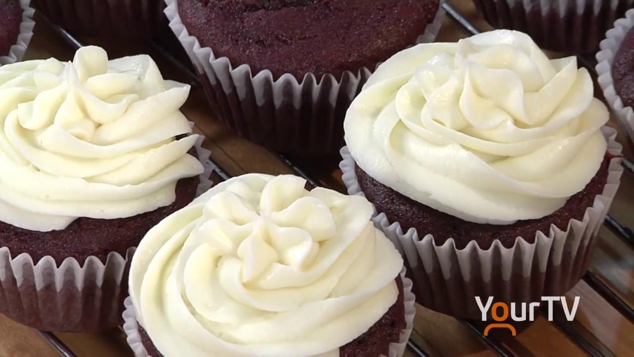 Sue\'s Gluten Free Red Velvet Cup Cakes - YouTube