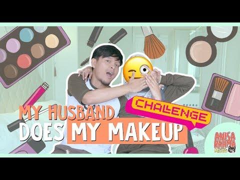 #VLOG 83 - MY HUSBAND DOES MY MAKE UP CHALLENGE || Anisa Rahma