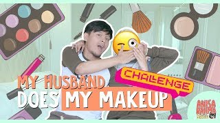 #VLOG 83 - MY HUSBAND DOES MY MAKE UP CHALLENGE || Anisa Rahma