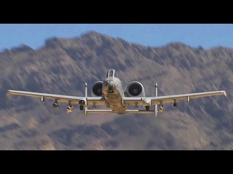 Spectacular A-10 Live Fire Action in the Desert
