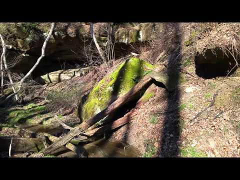 Athens county land for sale with caves and waterfall!