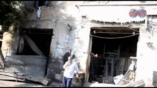 شاهد  قوة انفجار قنبلة القنصلية الايطالية وتأثيرها على المحلات والابنية