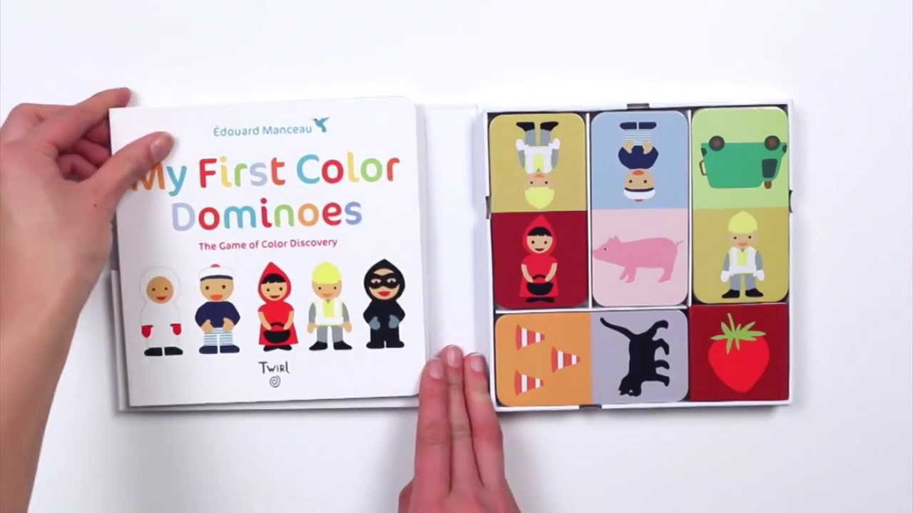 MY FIRST COLOR DOMINOES By Edouard Manceau - Book Demo Video - YouTube