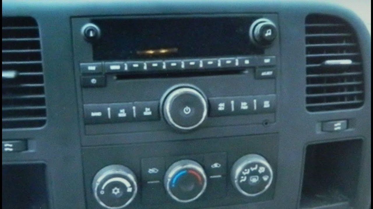 How To Remove Car Stereo Chevrolet Silverado 2007 - 2013