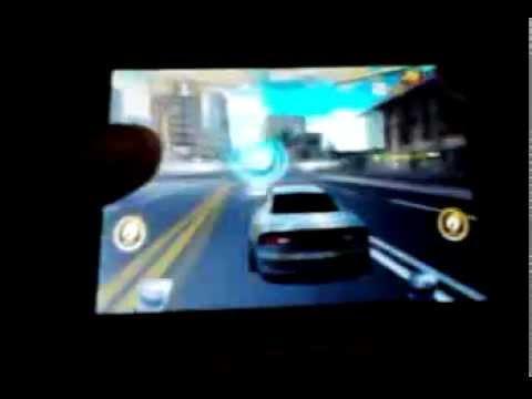 Game on LG Optimus L3: Asphalt 7 (QVGA)