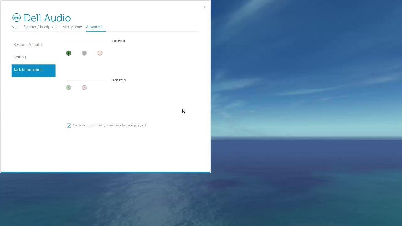Dell Audio Equalizer in Windows 10