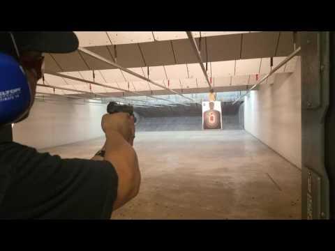 Ruger SR40 at the firing range