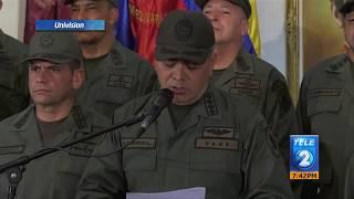El alto mando militar de Venezuela reitera su lealtad a Nicolás Maduro