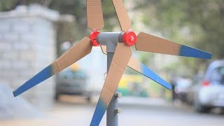 How to make a Generator - Wind Mill Generator