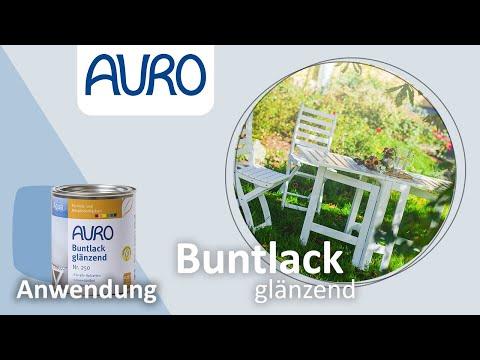 AURO Anwendung Aqua-Lack Gartentisch