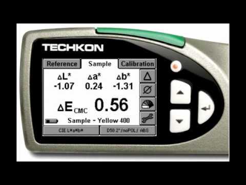 Techkon SpectroDens Functionality: CIE Lab