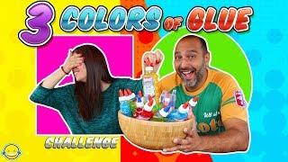 3 COLORS of GLUE SLIME CHALLENGE - 3 Colores de Cola para Slime! Bego y Jordi - Momentos Divertidos