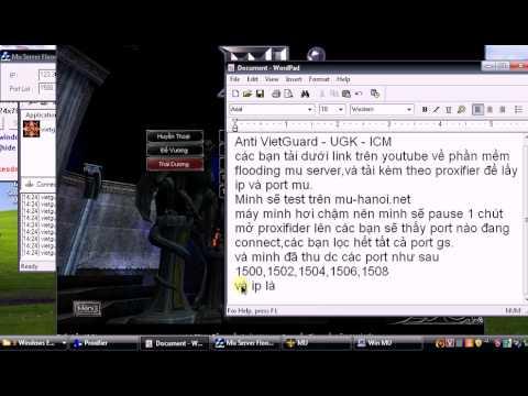 [Download + Hướng Dẫn] Hack Full Mu Server VietGuard,UGK,ICM By Lê Minh Ánh