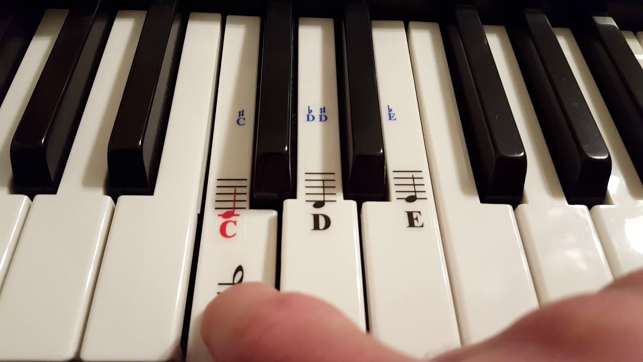 3be2e742a76 HOW TO ADD NOTE STICKERS TO YOUR 61 KEY KEYBOARD RJ761 ROCKJAM - YouTube