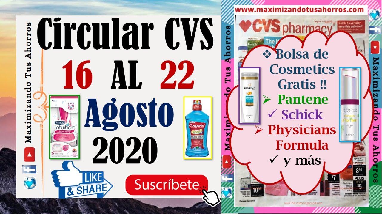 ⁉️Pantene, Schick, Bolsa Cosmetics Gratis👉 Circular CVS 8/16/20 al 8/22/20