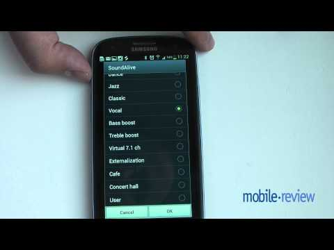 Samsung Galaxy S III. Музыкальный плеер, а также радио