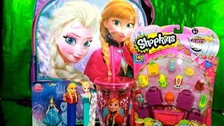 Queen Elsa FROZEN Disney Princess SURPRISE BACKPACK Play-Doh Fashems MLP Shopkins 12 pack