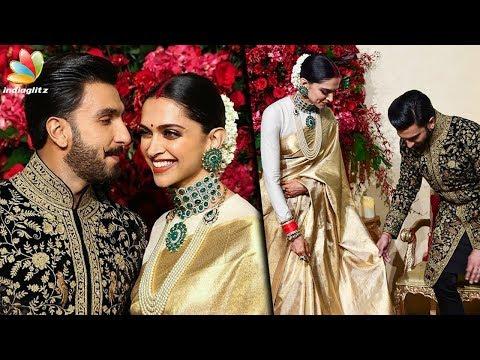 Deepika Padukone wears KANCHIPURAM SAREE for her WEDDING RECEPTION | Ranveer at Bangalore