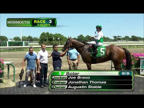 video thumbnail for MONMOUTH PARK 6-28-19 RACE 3