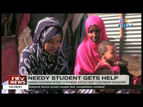 Garissa governor offers to sponsor Zaitun Yusuf's secondary education
