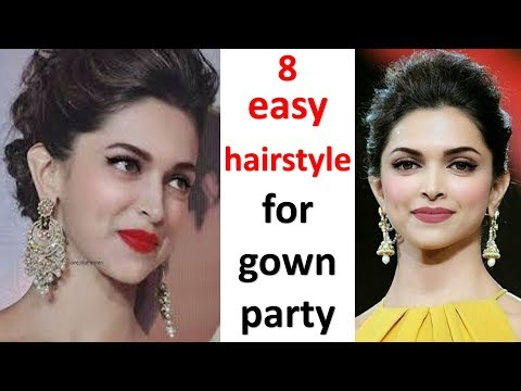 8-quick-hairstyle-with-gown-||-hairstyle-with-gown-||-hairstyle-foe-thin-hair-|-hairstyle-for-party