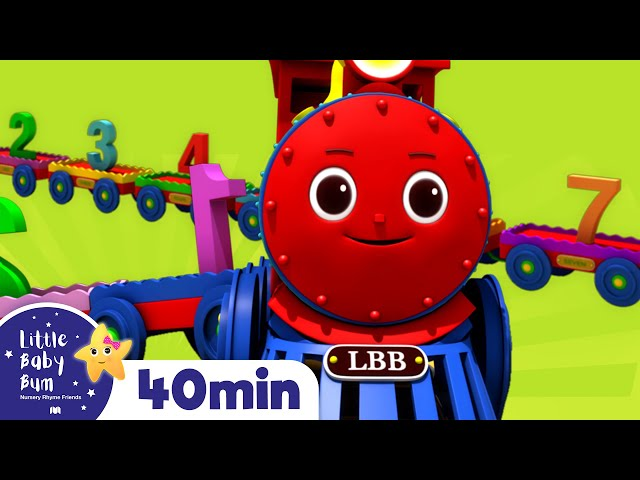 Learning Numbers With Trains - Little Baby Bum   Nursery Rhymes and Kids Songs   Baby Songs   LBB