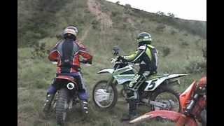 Trilha Paracatu Daniel Super Jaca  Kawasaki kx 250 cc MOTOS TRILHA