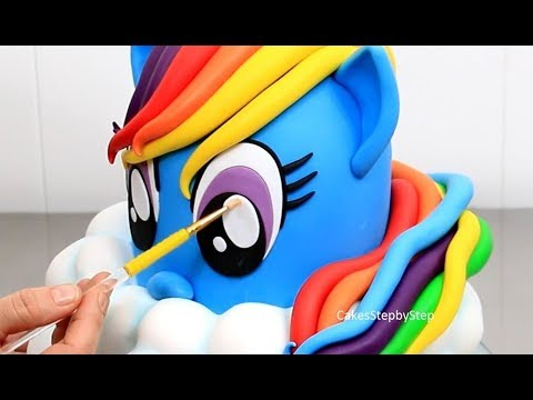 Rainbow Pony Birthday Cakes