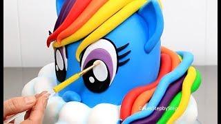 Wie man eine RAINBOW DASH PONY-Kuchen | My Little Pony Kuchen Kuchen StepbyStep