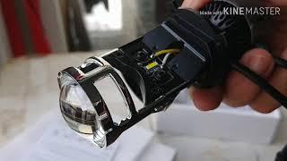 Mở hộp và lên đèn led bi cầu mini h4 cho exciter 150 Video