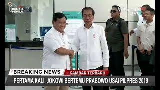 Akhirnya! Jokowi dan Prabowo Bertemu di Stasiun MRT