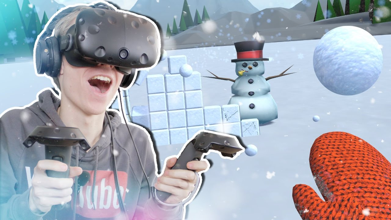 FUNNY MULTIPLAYER BATTLE WITH SNOW BAZOOKAS!  | Snow Fortress VR (HTC Vive Gameplay)