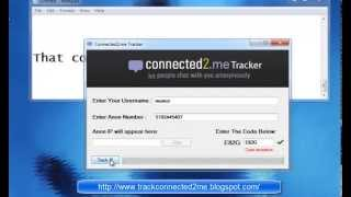 Connected2 me IP  tracker  Track anon questions and chats! 2013 [WORKING!]