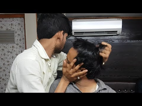 Intense Head Massage with Neck and Hair Cracking and ear cleaning