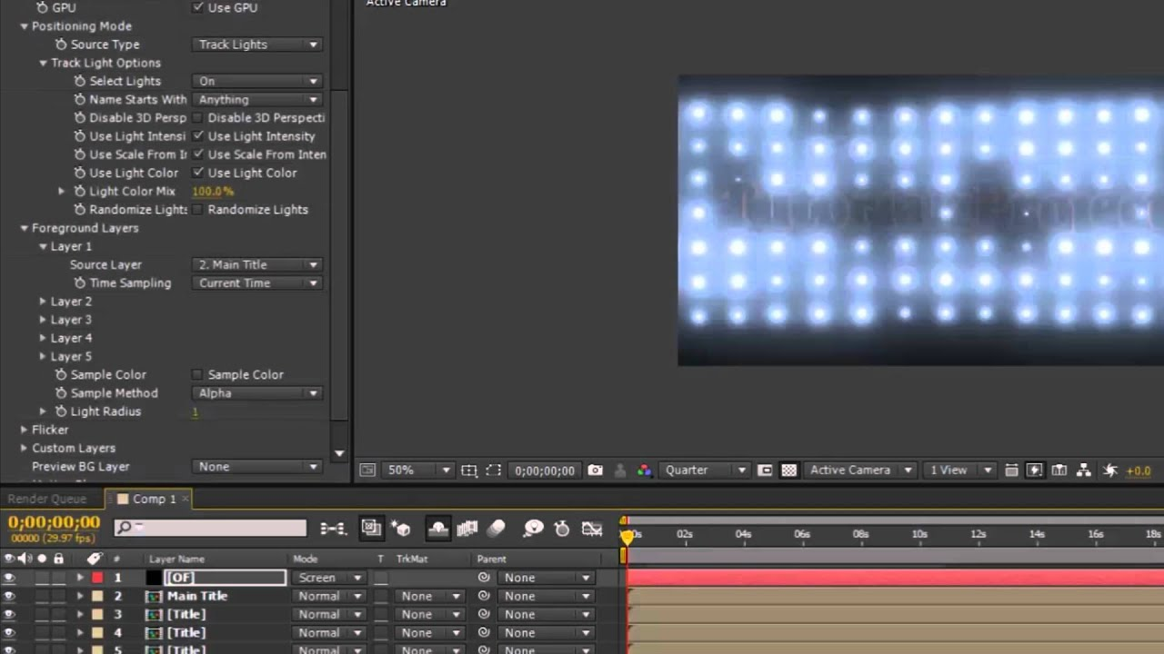Stage lighting in after effects cs4 youtube - How To Create Optical Flares Wall Of Lights In After Effects Cs6 Youtube
