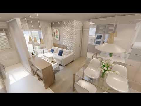 Apartamento Decorado Com Sacada L Residencial Terra De Santa Cruz