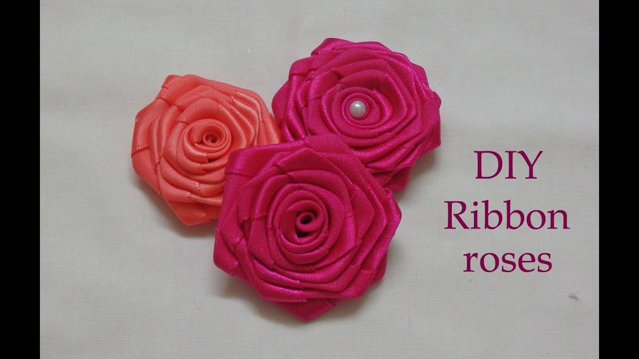 Diy ribbon roses, ribbon rosettes tutorial, how to make