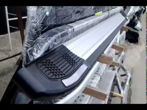 Обзор алюминиевых порогов для джипов и бусов