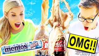 EXTREME COKE AND MENTOS CHALLENGE!!!
