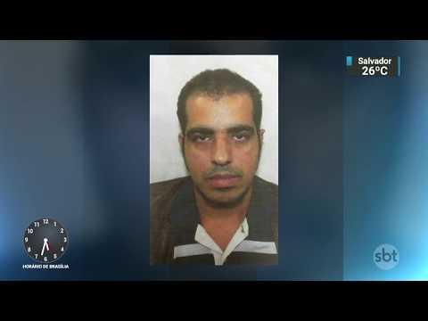 Câmera registra momento em que estuprador ameaça e foge com vítima | SBT Notícias (12/03/18)