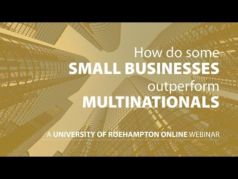 How do some small businesses outperform multinationals