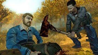 Lee Cuts David's Leg to Save Him (The Walking Dead | Telltale Games)