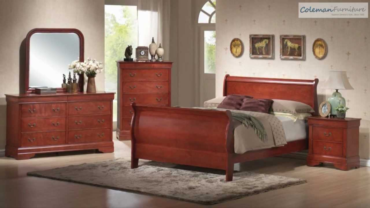 louis philippe youth cherry bedroom collection from coaster furniture youtube