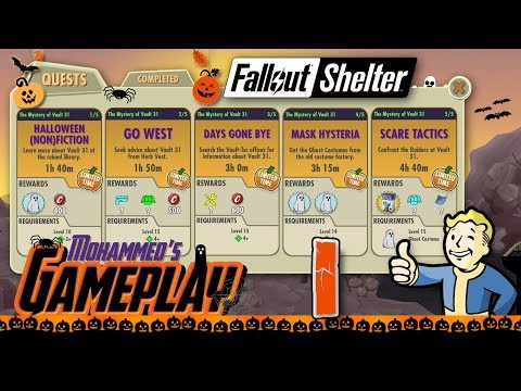 The Mystery Of Vault 31- Fallout Shelter Halloween 2017 Quest #1 Full