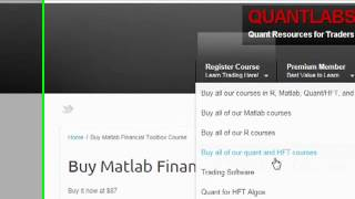 Quant academy to learn HFT algo R Matlab Open Source  forex and stock trading platform software