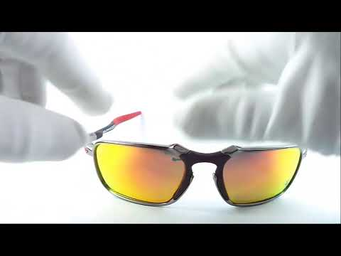 Gafas Oakley® Badman Ferrari Silver Polarized HDO AV0109 - YouTube 287accde3b
