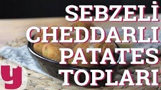 Sebzeli Cheddarlı Patates Topları Tarifi (Bir Varmış Bir Yokmuş!) | Yemek.com