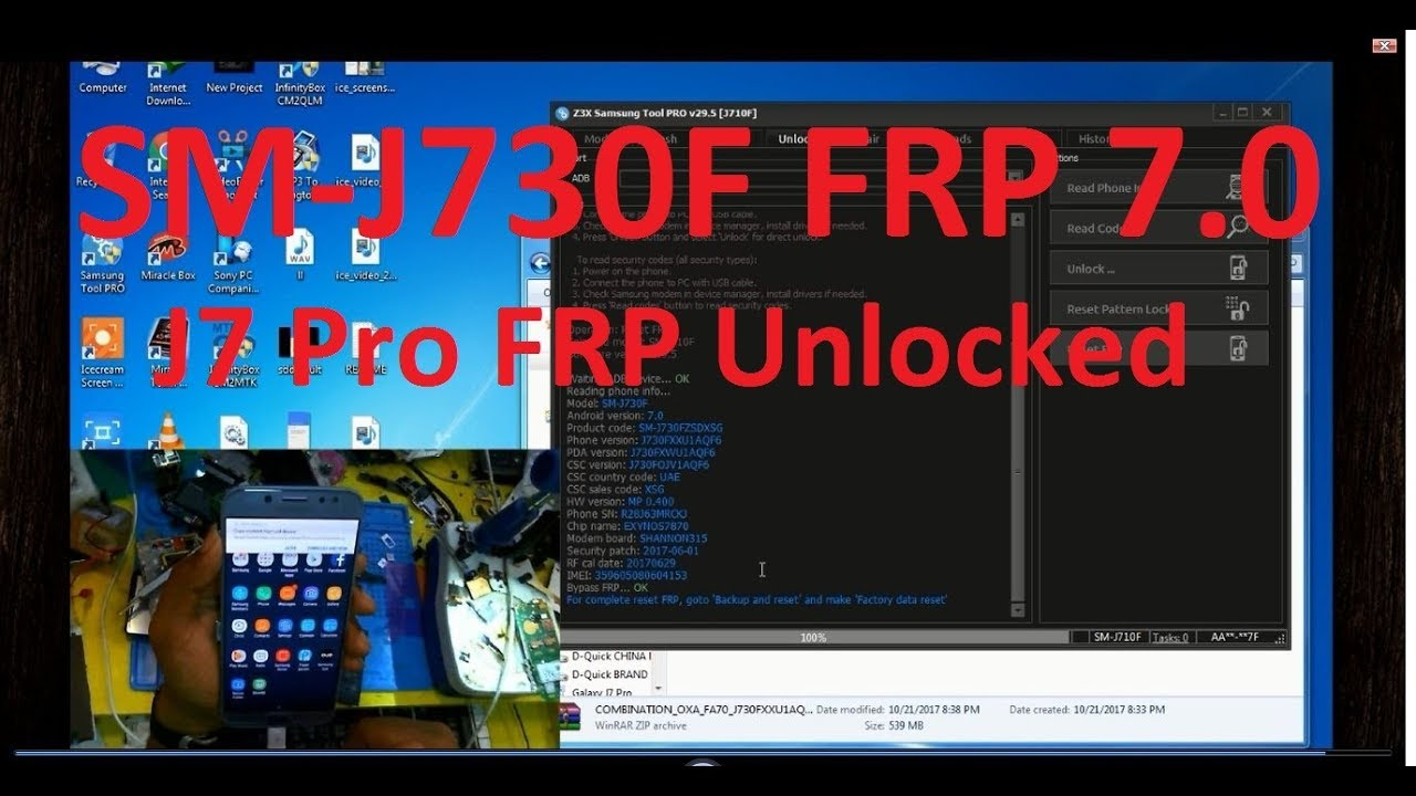Samsung J7 Pro J730F 7 0 Frp Unlock With Sboot || 100% Working by D-Quick  Solution