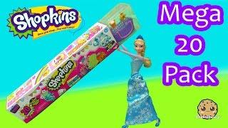 Disney Frozen Queen Elsa Unboxes Shopkins Season 4 MEGA 20 Pack - Toy Video Cookieswirlc